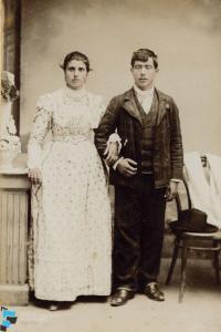 Ritratto di giovane coppia di sposi di Reggio Calabria